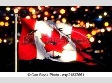 Canada national flag torn burned war freedom night 3d