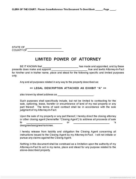 of attorney letter real estate forms 706 best images about real estate sle templates on power