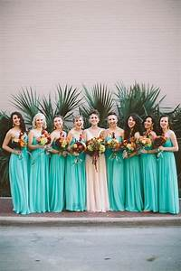 Bright Teal Bridesmaid Dresses | Wedding Inspiration Board ...