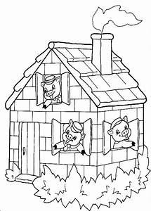 dessins de les 3 petits cochons a colorier With maison brique et bois 1 quia les trois petits cochons 2
