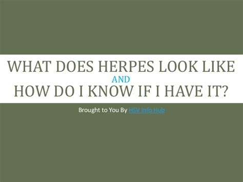What Does Herpes Look Like