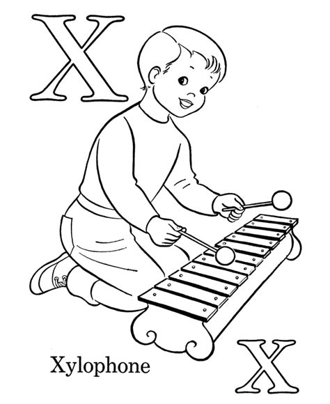 xylophone pictures  color  kids color  pages