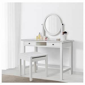 Table De Maquillage Ikea : hemnes coiffeuse avec miroir blanc 110 x 45 cm ikea ~ Nature-et-papiers.com Idées de Décoration