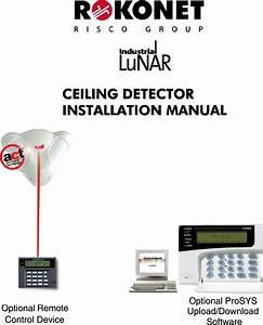 Risco Rk200dt Ceiling Detector User Manual Lunar Detector