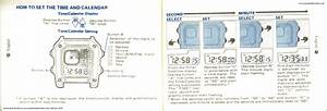 Seiko Wristwatch Calibre G757 Sports 100 Operating