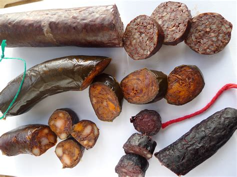 morcilla sausage types blood rice clockwise spain bloody sausages asturian smoked four kitchen