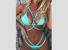 Solid Braid Sexy Bikini Set without Necklace Fairyseason