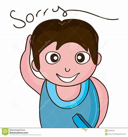 Sorry Clipart Saying Boy Forgive Illustration Clip