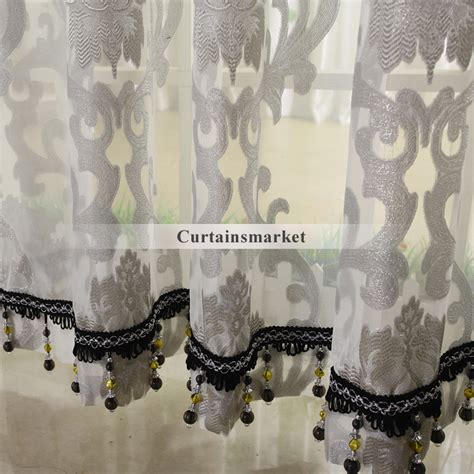 floral living room grey patterned sheer curtains