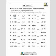 4th Grade Math Practice Multiples, Factors And Inequalities