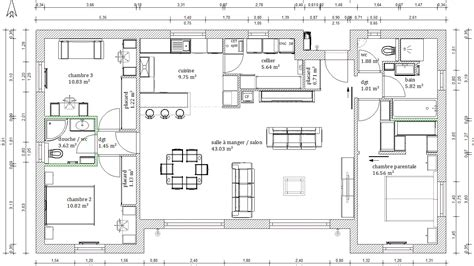 maison plain pied 2 chambres cuisine images about plan on house plans floor plans plan