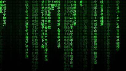 Matrix Code Falling Text Effect Chinese Sci