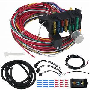 Universal Wire Harness Kit Fit For Hot Rod Street Rod 12
