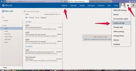 Office 365 Email Java by Day 4 Outlook Web App Reading Pane Microsoft Office 365