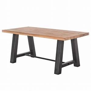 Esstisch Holz Metall Design : esstisch esszimmertisch tisch laval 200x100 cm design industrie stil massivholz holz eiche ~ Buech-reservation.com Haus und Dekorationen