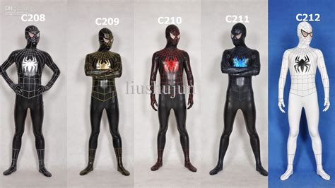 Professional Wet Look Lycra Spandex Zentai Costume Spide