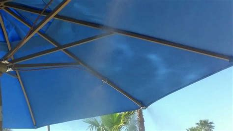 umbrella with fan and mister umbrella misting system by ar blue mist youtube