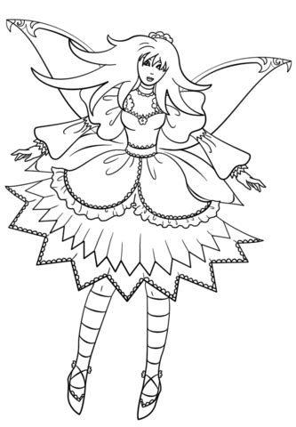 Goth Fairy coloring page Free Printable Coloring Pages