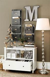 best 25 small office decor ideas on pinterest desk With kitchen cabinets lowes with wall art office space