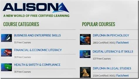 diploma courses free alison provides free for powerpoint and