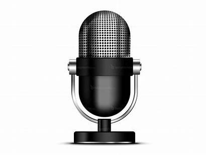 Microphone Icon Radio Psd Mic Background Retro