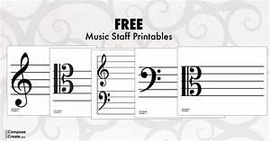 Printable Treble  Bass  Tenor  And Alto Clef Staff For