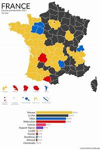 France's 2017 presidential election results mapped.