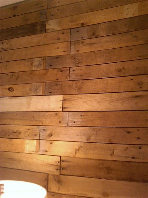 wood planks on walls diy scrap pallet plank wall poppytalk