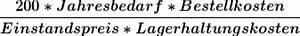 Transportkosten Berechnen Formel : optimale bestellmenge ermitteln ~ Themetempest.com Abrechnung