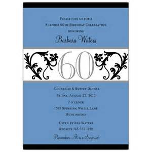 vine blue 60th birthday invitations paperstyle