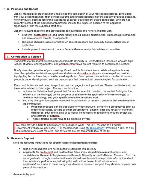 nsf biosketch template about changes to the nih biosketch nih biosketch libguides at of carolina