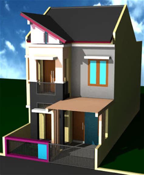 desain  denah rumah  lantai tipe  desain denah