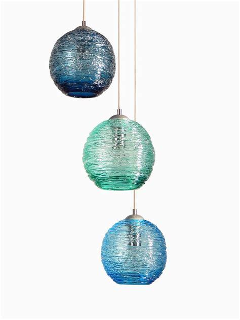made globe spun glass cluster pendant