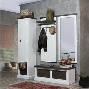 Flur Garderoben Set : neu landhaus garderoben set massiv akazie flur spiegel ~ Indierocktalk.com Haus und Dekorationen