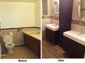 #Bathroom #renovation - #before and after- ikea vanities ...
