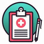 Medical Record Notes Icon Transparent Table Svg