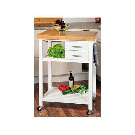 desserte de cuisine à roulettes desserte de cuisine en bois blanc avec roulettes meuble