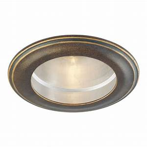 Recessed lighting trim sizes : Minka lavery deep flax bronze quot decorative