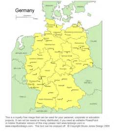 Printable Map of Germany Cities