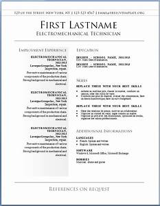 free resume template 9 resume cv With free resume temp