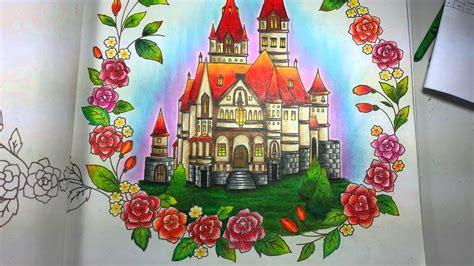 livro de colorir romantic country  coloring book
