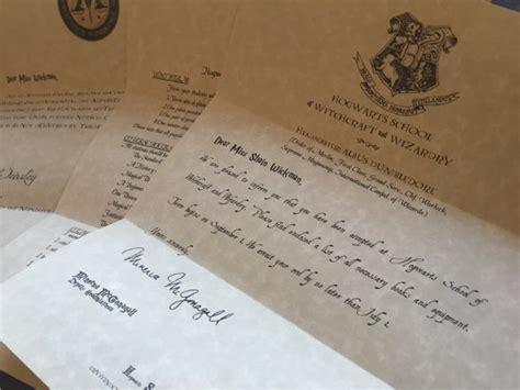 hogwarts acceptance letters