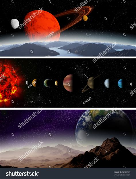 Illustrated Diagram Showing The Order Planets Our