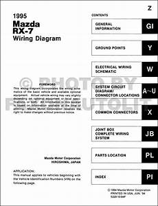 199mazda Rx 7 Wiring Diagram Manual Original Rx7