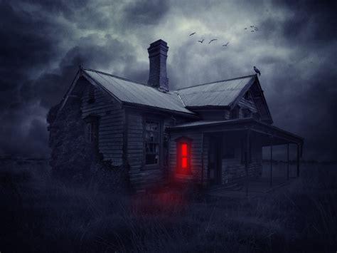 easy steps  create  haunted house scene
