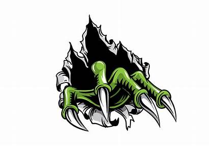 Claw Monster Metal Tear Vector Drawing Torn