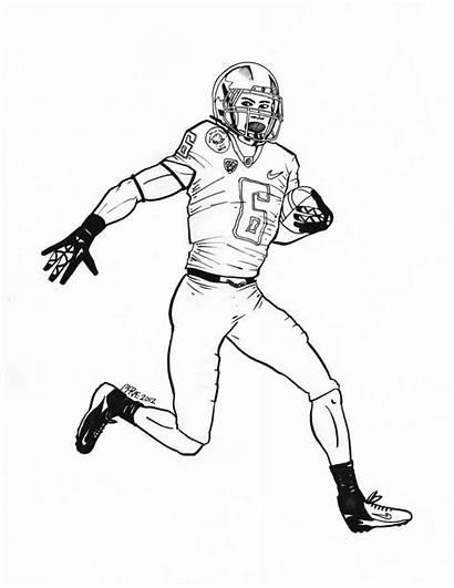 Coloring Football Ducks Oregon Brady Tom Player