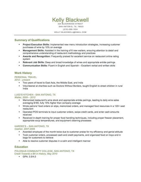 Food Service Resume Template by Combination Food Service Resume This Resume