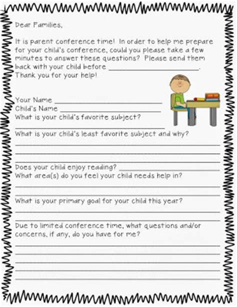 questions to ask at parent teacher conference preschool the second grade superkids parent conference 982