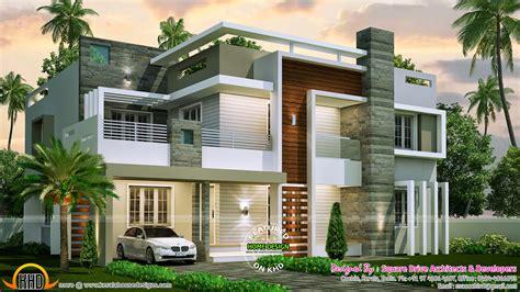 modern home blueprints 4 bedroom contemporary home design kerala home design